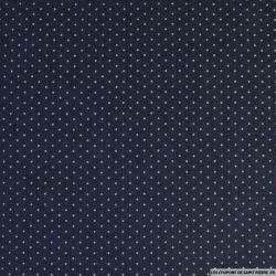 Jean's coton fin imprimé pois 3mm marine