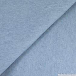 Chambray coton bleu clair