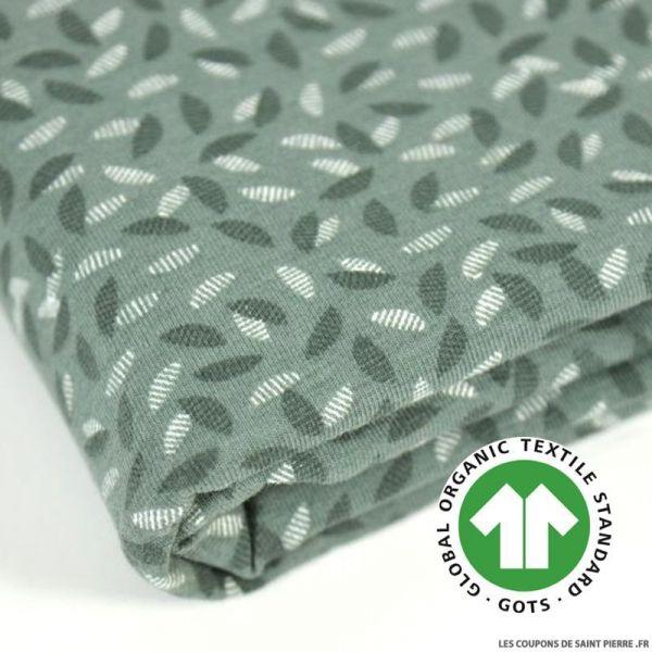Jersey coton Bio GOTS empreinte vert