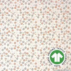 Popeline coton Bio GOTS restons groupé orange