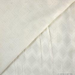 Mousseline dévorée ziz zag blanc cassé