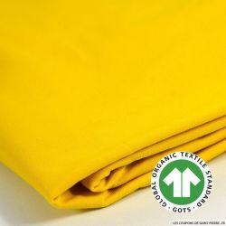Jersey coton Bio GOTS jaune soleil