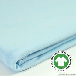 Jersey coton Bio GOTS bleu layette
