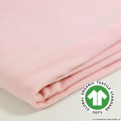 Jersey coton Bio GOTS rose layette