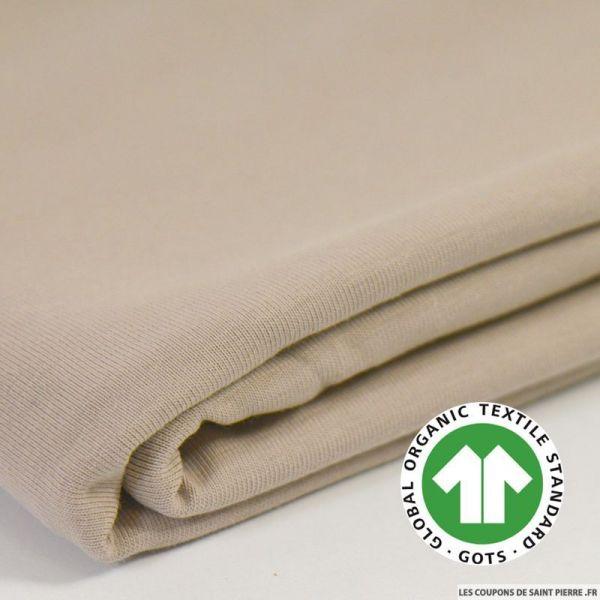 Jersey coton Bio GOTS beige