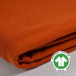 Jersey coton Bio GOTS terracotta