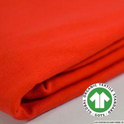 Jersey coton Bio GOTS rouge