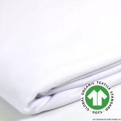 Jersey coton Bio GOTS blanc
