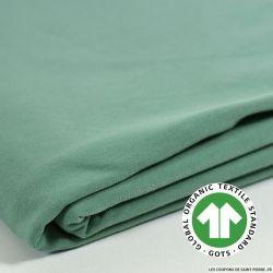 Jersey coton Bio GOTS eucalyptus