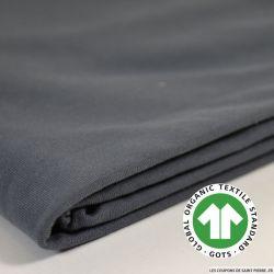 Jersey coton Bio GOTS gris