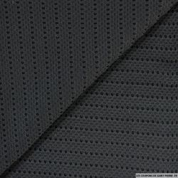 Maille structurée ajourée noir