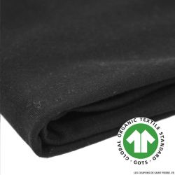 Jersey coton Bio GOTS noir