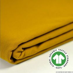 Jersey coton Bio GOTS moutarde