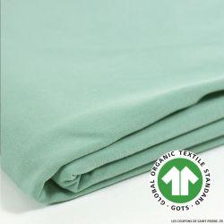 Jersey coton Bio GOTS vert d'eau