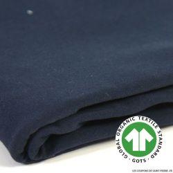 Jersey coton Bio GOTS marine