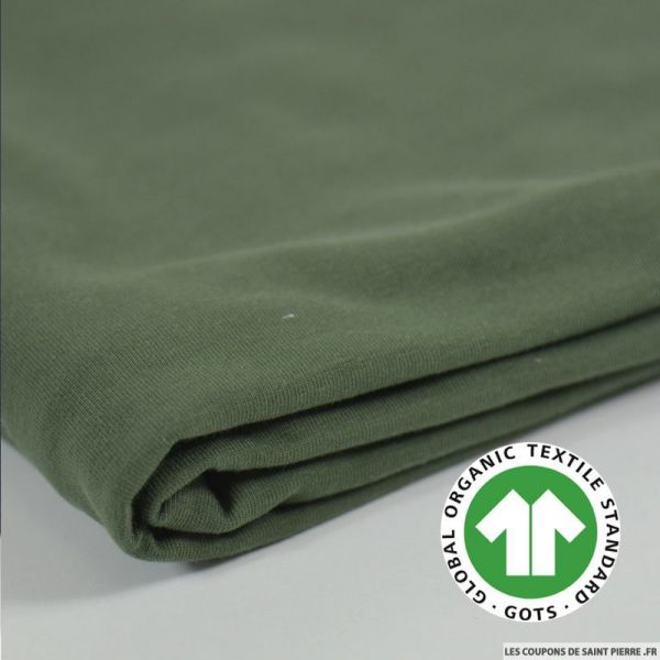 Jersey coton Bio GOTS kaki