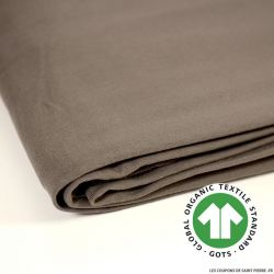 Jersey french terry coton Bio GOTS taupe