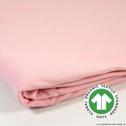 Jersey french terry coton Bio GOTS rose bébé