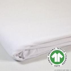 Jersey french terry coton Bio GOTS blanc