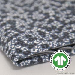 Jersey coton Bio GOTS sauvage bleu acier
