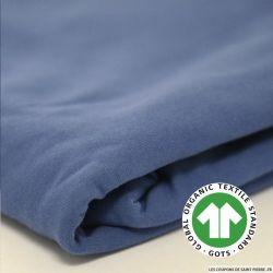 Jersey coton Bio GOTS bleu