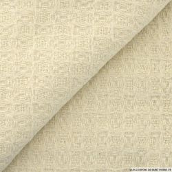 Tweed polyester écru