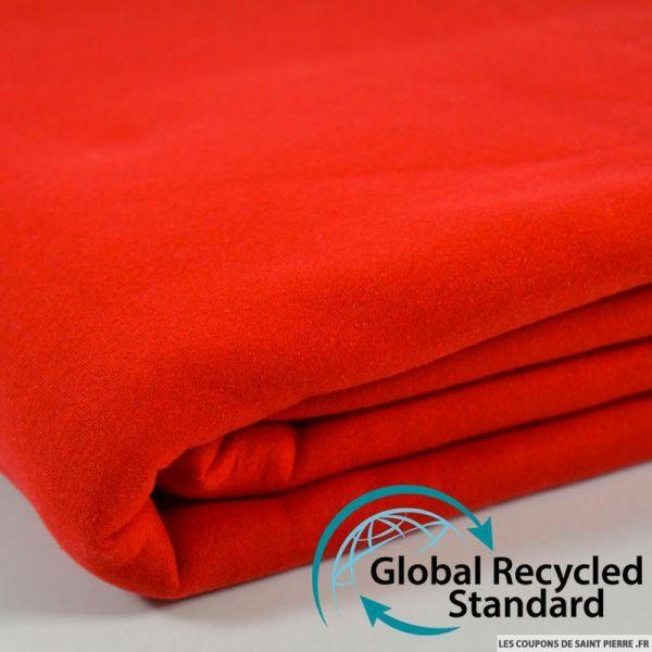 Sweat minkee recyclé rouge