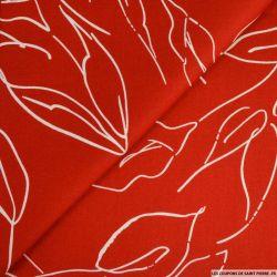 Satin de coton imprimé épuré rouge