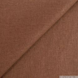 Lin viscose marron