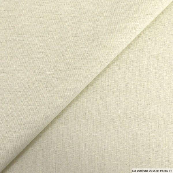 Lin viscose beige clair