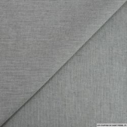 Coton tissé teint chevron gris