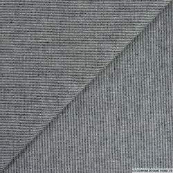 Coton tissé teint chevron noir