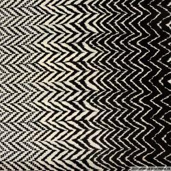 Microfibre polyester imprimée chevron artistique noir et blanc