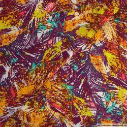 Viscose imprimée abstrait coloré fond lie de vin