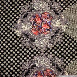 Microfibre polyester imprimée emblème fond noir