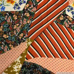 Viscose imprimée patchwork multicolore