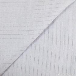 Double gaze rayures lurex blanc
