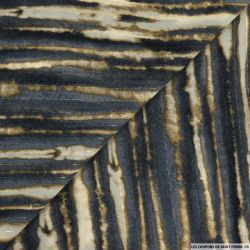 Mousseline lurex imprimé délavé gris