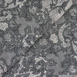 Mousseline bande satin lurex pépinière noir et blanc