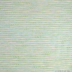 Jacquard polyviscose rayés vert