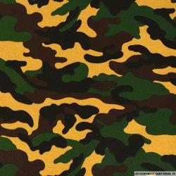 Gabardine polycoton camouflage orangé