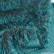 Fausse fourrure à poil long vert canard