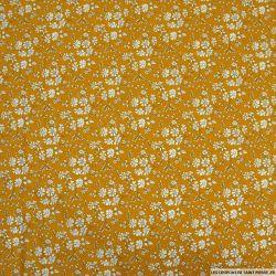 Coton liberty ® Capel jaune moutarde au mètre