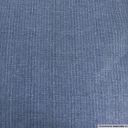 Coton imprimé mini carreaux bleu