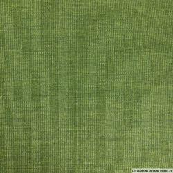 Coton imprimé mini carreaux vert