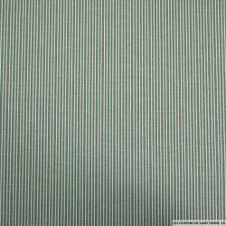 Coton imprimé ma belle rayure ! Vert