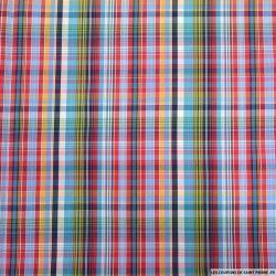 Coton imprimé mr carreaux rouge