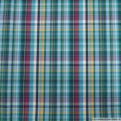 Coton imprimé Mr carreaux vert