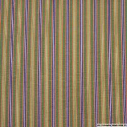 Coton imprimé rayure dans rayure vert