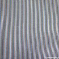 Coton imprimé ma belle rayure ! Bleu
